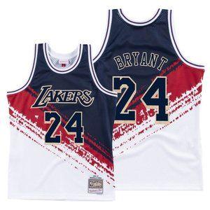 Kobe Bryant White Independence Throwback Jersey